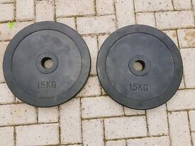 Olympic weight plates rubber 2 x 15kg
