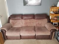 Three Seater Recliner sofa & Poufee