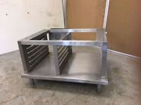 Commercial kitchen equipment all stainless and excellent condition. Sink, tables, hot cabinet