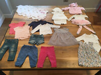 6 - 9 months Baby Girl Clothes Bundle - 22 items (inc. White Company, John Lewis, Gap, M&S, Next)