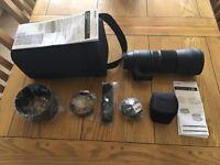 Sigma 150 - 600 mm F5 - 6.3 DG OS HSM Contemporary Canon Mount Lens + Sigma 1.4x teleconverter