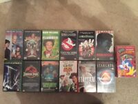 VHS Tapes 14 Films Movies Collection Age U PG