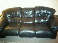 Free 3 person Sofa black faux leather