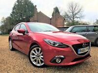 2015-65 Mazda3 2.0 SkyActiv-G 4k miles* Watch Video* Nav Head Up Display Free Service Heated Seats