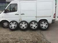 PORSCHE CAYENNE 18 INCH ALLOY WHEELS AND MINT TYRES FIT MERCEDES SPRINTER