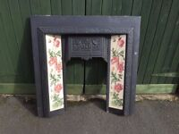 Tiled fireplace Backplate in perfect condition will take all insets - Bargain at this price