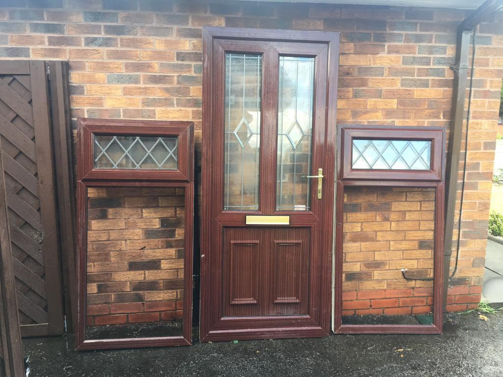 Upvc Door And Frame Plus 2 Small Window Frames