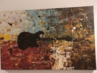 """Canvas Print - 30x19"""" - 'Guitar Story' by Carmen Guedez"""
