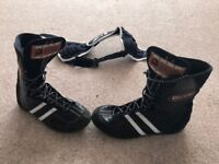 Boots (size 6.5) and head guard