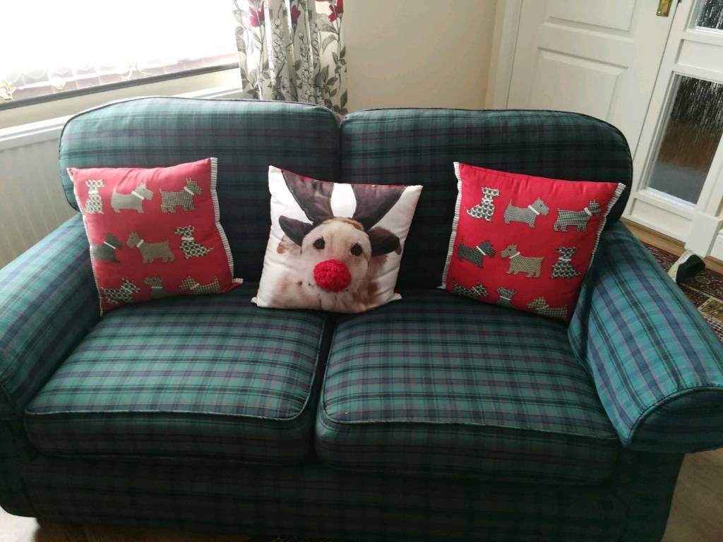 Marks And Spencer Green Tartan Sofa