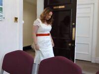 Beautiful ivory wedding / bridesmaid dress, size 14