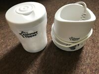 Travel steriliser, bottle warmer and brand new bottle