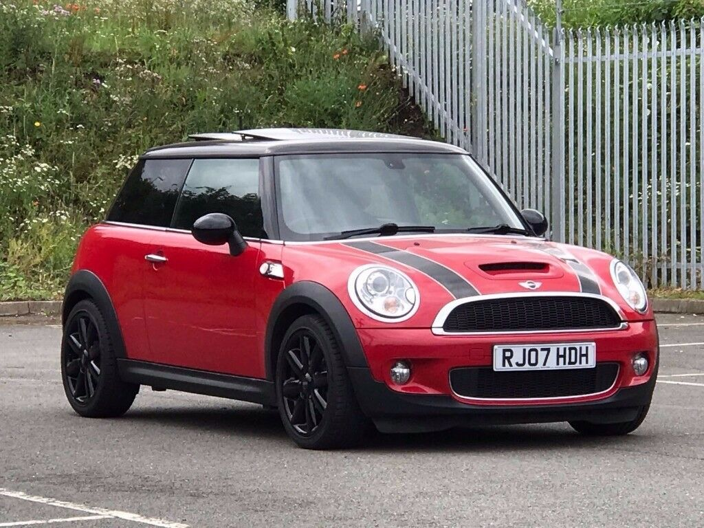 2007 mar 07 mini cooper 1 6 s hatchback 3 dr petrol manual red pan roof sat nav. Black Bedroom Furniture Sets. Home Design Ideas