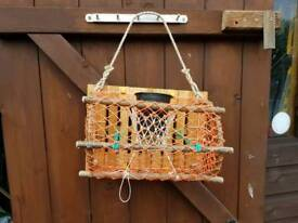Hand made small lobster fishing pot
