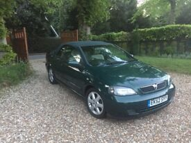 52 plate Astra convertible Green in good condition just serviced and with 12months MOT
