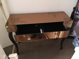 Glass console / dressing table