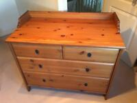 Wardrobe and Chest of drawers set.