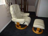 Reclining chair & Stool STRESSLESS