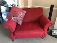 4 piece red m & s suite incl footstool