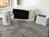 Microwave, Kettle, Toaster - Bargain bundle