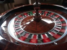 Full size Cammegh Roulette Wheel, beautiful condition Mercury 360 with in rim sensors