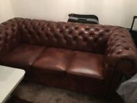 Below market price Chesterfield sofa set green velvet Sofa set