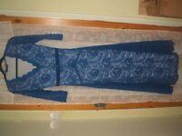 long lace bridesmaid/evening dress