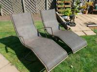 x2 Rattan Sun Loungers (collection only)