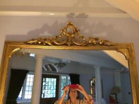 Overmantle mirror original