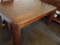 6 seats Dinning Table Solid Wood Nature Wood Style RRP 500pounds