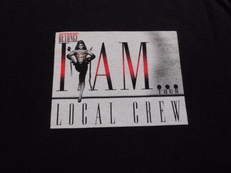 Beyonce I Am... Tour Local Crew T-Shirt XL promo concert employee music tee BLK