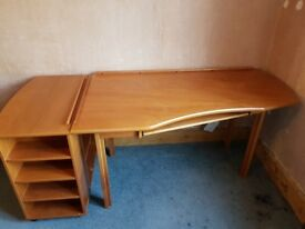 John Lewis wooden desk and storage pedestal