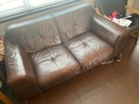 Leather Left hand corner suit with two seater
