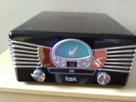 Retro music centre including cd radio and turntable