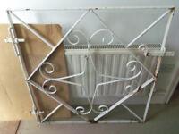 Wrought iron metal white gate / Patio garden entrance W:84cm H:89cm