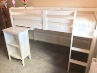Children's Cabin Bed Mid Sleeper with Desk for sale  Kirkliston, Edinburgh