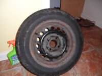 Suzuki Swift spare wheel and as new tyre. 155/70/13