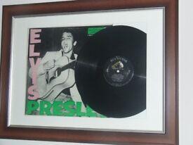 Elvis Presley. Framed first LP. First pressing. Ex. condition.