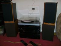 Marantz amp, CD player, Sony radio, B&W DM12, Project debut 3 SB.
