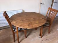 Dining table and chairs £30