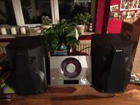 Yamaha Compact Stereo Hifi and Sony Speakers