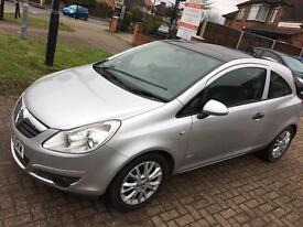 12 MONTHS MOT, NEWLY SERVICED, Corsa 1.2 ACTIVE PLUS, 3 DR,PANORAMIC ROOF,2010 SILVER MANUAL,HPI CLR