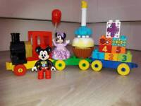 Mickey mouse duplo train
