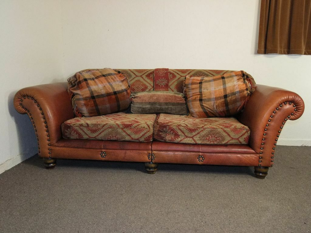Living Room Furniture Glasgow Tetrad Eastwood Midi Sofa In Buffalo Hide Leather Chenille Free