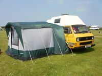 Just Kampers Campervan Awning - Large Awning to fit VW T25 and more