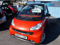 STUNNING SMART FORTWO 1L WITH SAT NAV , DRIVES A1 ANY TRIAL ,FREE MOT'S, WARRANTY,FINANCE AVAILABLE