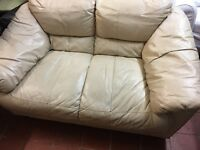 REAL LEATHER 2 seater SOFA IN GOOD CONDITION