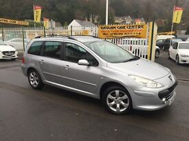 PEUGEOT 307 SW 1.6 HDi S 5dr (silver) 2007