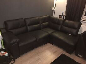 Brand new leather 3 seater corner chase sofa