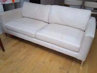 Ikea Karlstad chrome leg 3 seater sofa